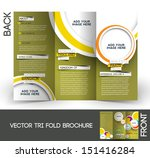 tri fold travel mock up  ... | Shutterstock .eps vector #151416284
