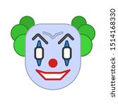 halloween icon  evil clown icon ... | Shutterstock .eps vector #1514168330
