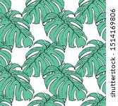seamless pattern with monstera... | Shutterstock .eps vector #1514169806