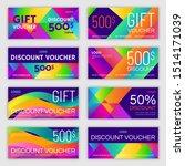 set of gift voucher design.... | Shutterstock .eps vector #1514171039