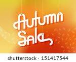 elegant retro autumn sale... | Shutterstock .eps vector #151417544