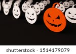 halloween group of pumpkins... | Shutterstock . vector #1514179079