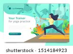 web page template of yoga... | Shutterstock .eps vector #1514184923
