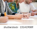 writing hands of students at... | Shutterstock . vector #151419089