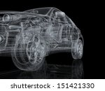High Detailed Car Wire Frame