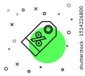 black line discount percent tag ...   Shutterstock .eps vector #1514226800