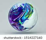 3d Rendering Of Abstract Glass...