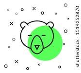 black line bear head icon... | Shutterstock .eps vector #1514252870