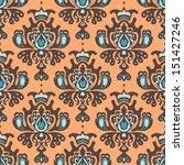 damask royal vector seamless...   Shutterstock .eps vector #151427246