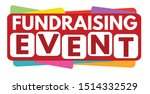 fundraising event label or... | Shutterstock .eps vector #1514332529