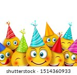 party background with set smile ...   Shutterstock . vector #1514360933
