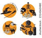 Vector Set For Halloween ...