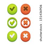 circle check box set with check ... | Shutterstock .eps vector #151436906