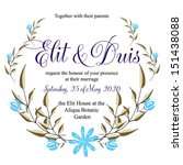 invitation or wedding card with ... | Shutterstock .eps vector #151438088
