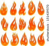 collection of vector fires... | Shutterstock .eps vector #151439570