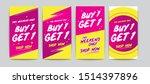 buy get free sale banner... | Shutterstock .eps vector #1514397896