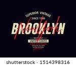 typography design  brooklyn ...   Shutterstock .eps vector #1514398316