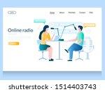 online radio vector website...   Shutterstock .eps vector #1514403743