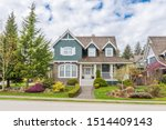 Houses In Suburb At Summer In...