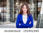 portrait of a smiling business... | Shutterstock . vector #151441340