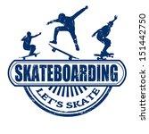 Skateboarding Grunge Rubber...