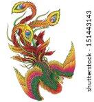 japanese style phoenix | Shutterstock .eps vector #151443143
