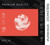 earth logo design with... | Shutterstock .eps vector #1514437856