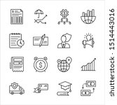 thin line icons for business ...