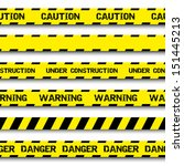 set of warning tapes isolated... | Shutterstock .eps vector #151445213