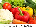 fresh vegetables close up | Shutterstock . vector #151445864