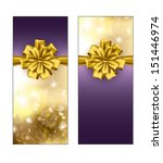 Greeting Cards With Golden Bow...