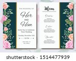 wedding invitation card with... | Shutterstock .eps vector #1514477939