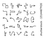 hand drawn and doodle arrows set   Shutterstock .eps vector #1514487920
