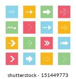 vector arrows icons set 2
