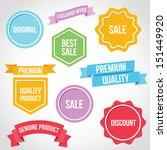vector badges ribbons and... | Shutterstock .eps vector #151449920