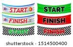set of start and finish banner... | Shutterstock .eps vector #1514500400