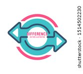 difference concept. vector... | Shutterstock .eps vector #1514502230