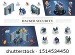 isometric hacking activity... | Shutterstock .eps vector #1514534450