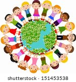 kids around the globe | Shutterstock .eps vector #151453538