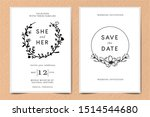 set traditional retro vintage... | Shutterstock .eps vector #1514544680