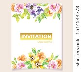 romantic wedding invitation... | Shutterstock .eps vector #1514544773