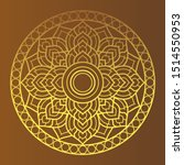 golden  dharma wheel in... | Shutterstock .eps vector #1514550953