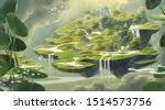 Floating Village With Fantasy...
