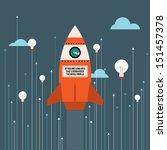 vector illustration of big idea ... | Shutterstock .eps vector #151457378