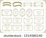 a vector design frame set | Shutterstock .eps vector #1514580140