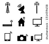 wireless technology icon   Shutterstock .eps vector #151459658