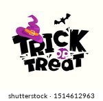 Trick Or Treat Vector Concept....