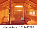 farm barn house inside view.... | Shutterstock .eps vector #1514617583