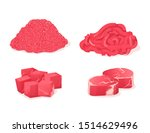 meat fresh steaks cartoon set.... | Shutterstock .eps vector #1514629496