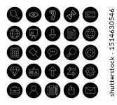 25 universal icon for your... | Shutterstock . vector #1514630546